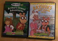 Arthur: Arthur's Best School Days & Arthur's Travel Adventures 2 DVD's - Rare
