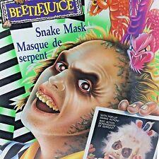 Vintage Beetlejuice Snake Mask with Pop Up Action Kenner Sealed 1990 Tonka Prop
