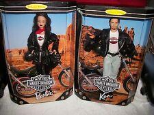 1998 (Both Dolls) NEW HARLEY DAVIDSON Barbie and Ken Dolls (BOTH SOLD TOGETHER)