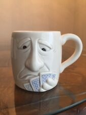 Vintage Fitz And Floyd Trust Your Partners Poker Mug 1987