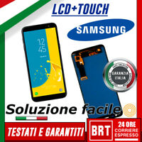 DISPLAY LCD+TOUCH SCREEN X SAMSUNG GALAXY J6 2018 SM-J600FN J600F VETRO SCHERMO!