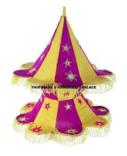 Lamp Shade Lightning Bohemian Wall Decor Traditional Vintage Cotton Star Design