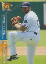 2019 Midland RockHounds Matt Milburn RC Rookie Oakland Athletics