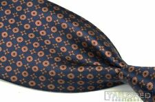 STEFANO RICCI Recent Blue Florette Geometric 100% Silk Mens Luxury Tie - 3.875""
