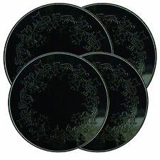 4pc Electric Stove Top Burner Covers Set Range Round Embossed Ivy Black Design