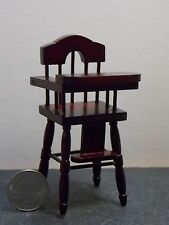 Dollhouse Miniature Mahogany High Chair 1:12 one inch scale D15 Dollys Gallery
