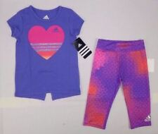 adidas baby Girls short sleeve top and tight set size 6 months