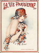 1924 La Vie Parisienne Premieres Fleurs France Travel Advertisement Poster