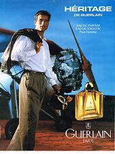 PUBLICITE ADVERTISING 084  1993  GUERLAIN  parfumeur pour homme