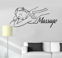 Vinyl Wall Decal Massage Room Spa Woman Relax Beauty Stickers (ig3951)