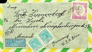 BRAZIL FAMOUS PEOPLE $5 + PAIR ON A/M COVER TO GERMANY USA ZONE