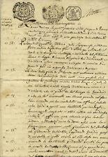 1802 Italy PIEMONT Austria France Napoleon sealled paper inprint revenues