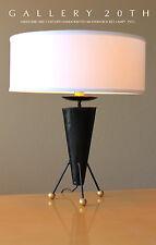 RARE! MID CENTURY MODERN ATOMIC ROCKET LAMP! Eames Era 50s Vtg Tripod Table 60s