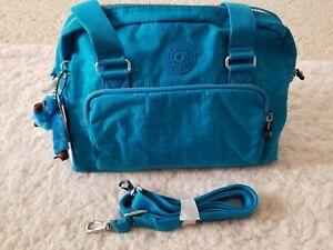 Kipling Dania Nylon Satchel Handbag Crossbody Messenger Summer Splash Monkey NWT