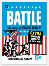 2018 Topps Wrapper Art #37 1965 Battle WWII World War 2 Card 80th Anniversary PS