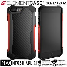 Element Case SECTOR Case For iPhone 8 PLUS /7 PLUS RED |MIL-SPEC |Carbon Fibre