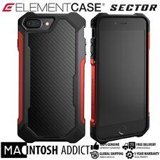 Element Case SECTOR Case For iPhone 7 PLUS RED | MIL-SPEC | TPU Carbon Fibre