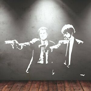 Pulp Fiction Vincent Jules Wall Sticker In Cut Matt Vinyl Quentin Tarantino Film