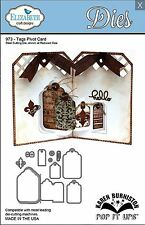 Elizabeth Crafts Designs Cutting Die Set ~ TAGS PIVOT CARD ~ 3D Cards ~973