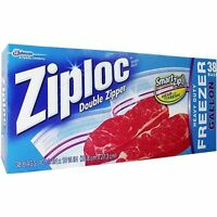 ZIPLOCK HEAVY DUTY DOUBLE ZIPPER GALLON FREEZER FOOD BAGS ZIPLOC GENUINE NEW