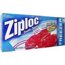 ZIPLOCK HEAVY DUTY DOUBLE ZIPPER GALLON FREEZER STORAGE FOOD BAGS ZIPLOC GENUINE