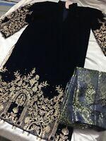 Pakistani Indian Shalwar Salwar Kameez Velvet Suit Anarkali Bollywood Maria B