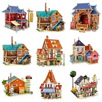 Robotime 3D Puzzle Wooden House Miniature Kits Assembly Toy Gift for Kids Girls