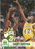 Gary Payton Hoops 1993/94 NBA Basketball Card #210
