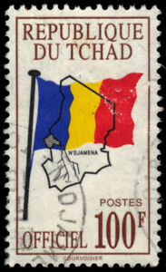 "CHAD O13 - National Flag and Map ""Official Postage"" (pf87910) $40"