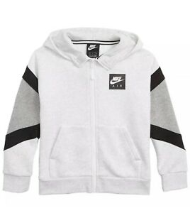 Nike Air Boys Youth Full Zip Gray Hoodie ~ NEW With Tags