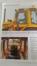 CATERPILLAR 428 BACKHOE LOADER BROCHURE FROM 1986