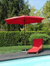 Maffei ombrellone esagonale Madera rosso poliestere d.280 cm made in Italy