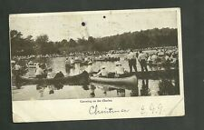 1906 Used postcard canoeing on the charles
