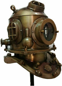Antique Diving Helmet~ U.S Navy Mark V Deep Sea Divers Helmet~ La-Spezia Helmet
