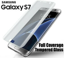 New 3D Samsung Galaxy S7 Full Curved Tempered Clear Glass Screen Protector 4D