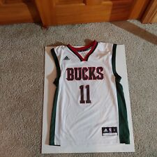 Mens S small Brandon Knight Milwaukee Bucks adidas jersey white