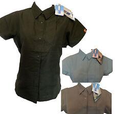 Polyester Short Sleeve Women's Blouses