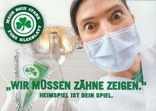 """Postkarte SpVgg Greuther Fürth Kleeblatt """"Mach dich stark"""" Zähne"""