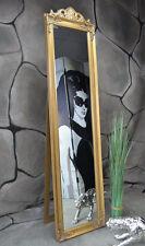 Standspiegel Spiegel antik Gold barock rokoko Landhaus Wandspiegel 160 x 40 cm