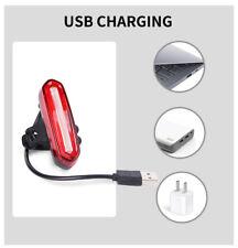 Luz Trasera Bicicleta Carga USB potente faro de 120 Lúmenes 4 Modos giro 360º