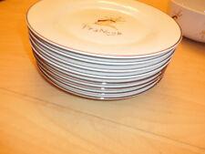 Pottery Barn Christmas Reindeer LOT Bowls, Dinner, Salad Plates, MUGS, napkins!