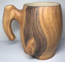 N4 Chope Mug Imitation Bois Vintage Vallauris  Grandjean Jourdan H12,5 L16 l 10