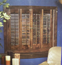 NEW Allen Roth Plantation Shutters Interior Real Basswood in Mahogany Finish