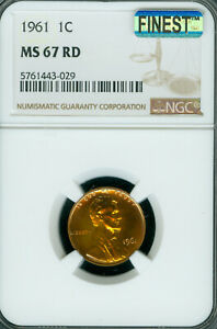1961 LINCOLN CENT NGC MS67 RED PQ FINEST REGISTRY MAC SPOTLESS .