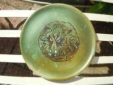 Assiette céramique décor loup stylisé Marie Madeleine Jolly amie de Cocteau