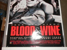 1997 BLOOD AND WINE MOVIE POSTER STARRING JACK NICHOLSON,DAVIS,CAINE,LOPEZ,DOERF