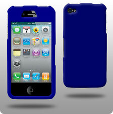 Azul duro híbrido posterior Funda Para Apple Iphone 4 4g