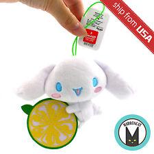 Japan Sanrio Cinnamoroll Puppy Dog Lemon Citrus Mascot Plush Doll keychain Charm