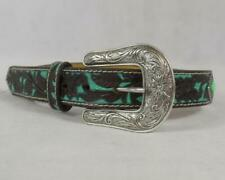 Ariat Western Belt Girls Turquoise Diamond Stones Floral Brown A1302402 Used