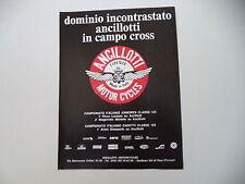 advertising Pubblicità 1978 MOTO ANCILLOTTI MOTORCYCLES CROSS